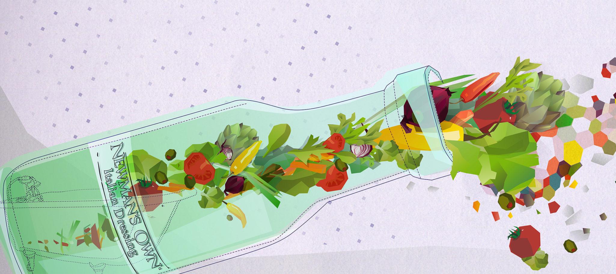 Styleframe: Salat in a bottle
