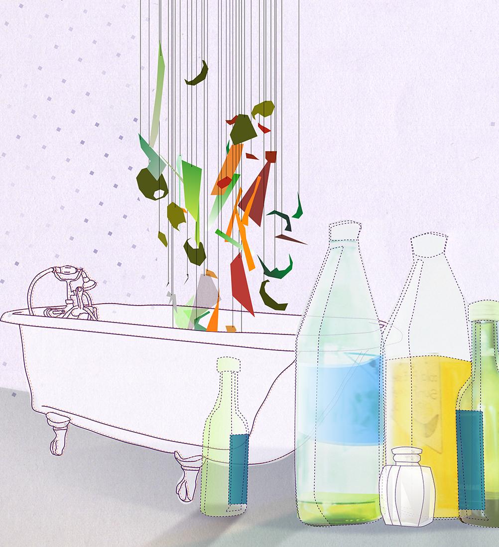 Styleframe: Bathtub and bottles