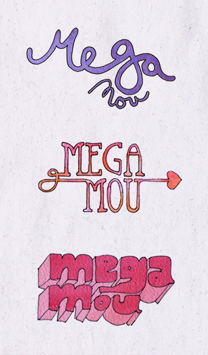 Typogrpahy for Greek TV Channel Mega