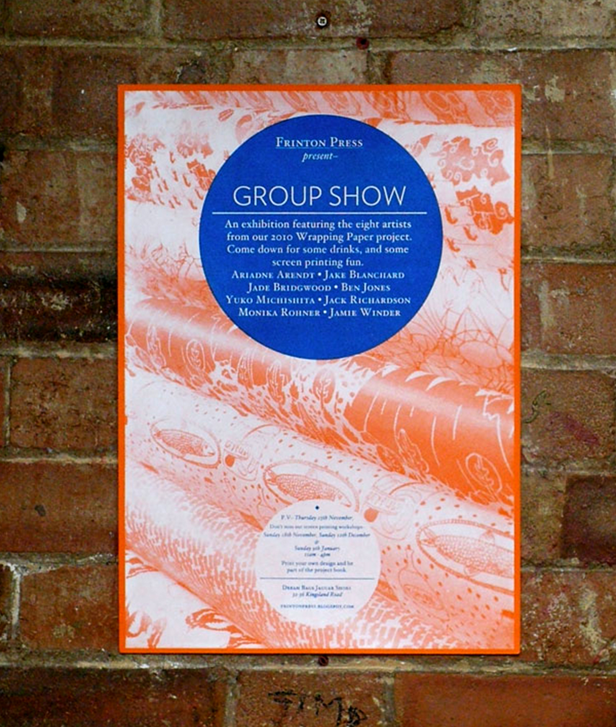 Photograph of Frinton Press Group Show poster