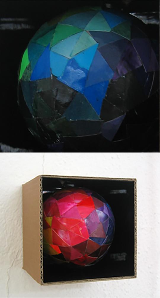 Cardboard box: Disco Ball