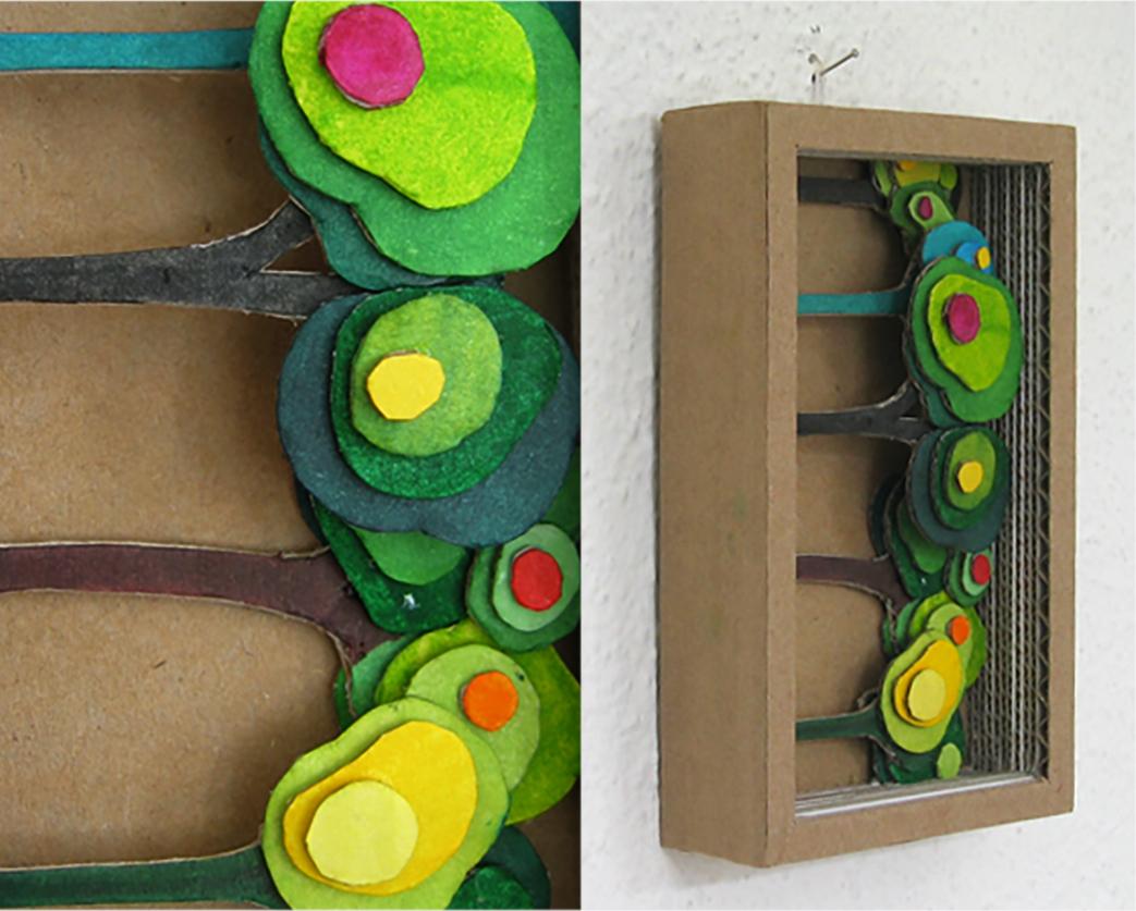 Cardboard box: Forest