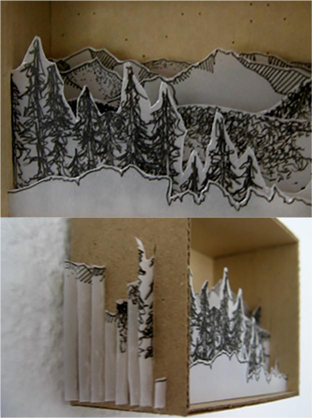 Cardboard box: Landscape