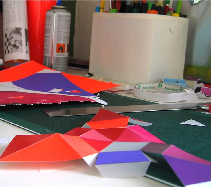 Production process: Paper Diamond