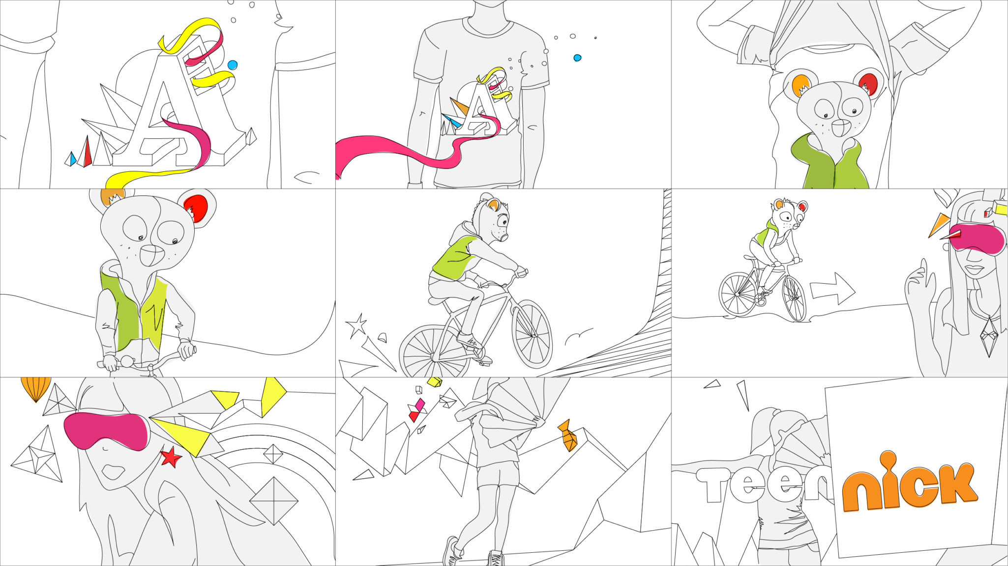 Storyboard for channel ident