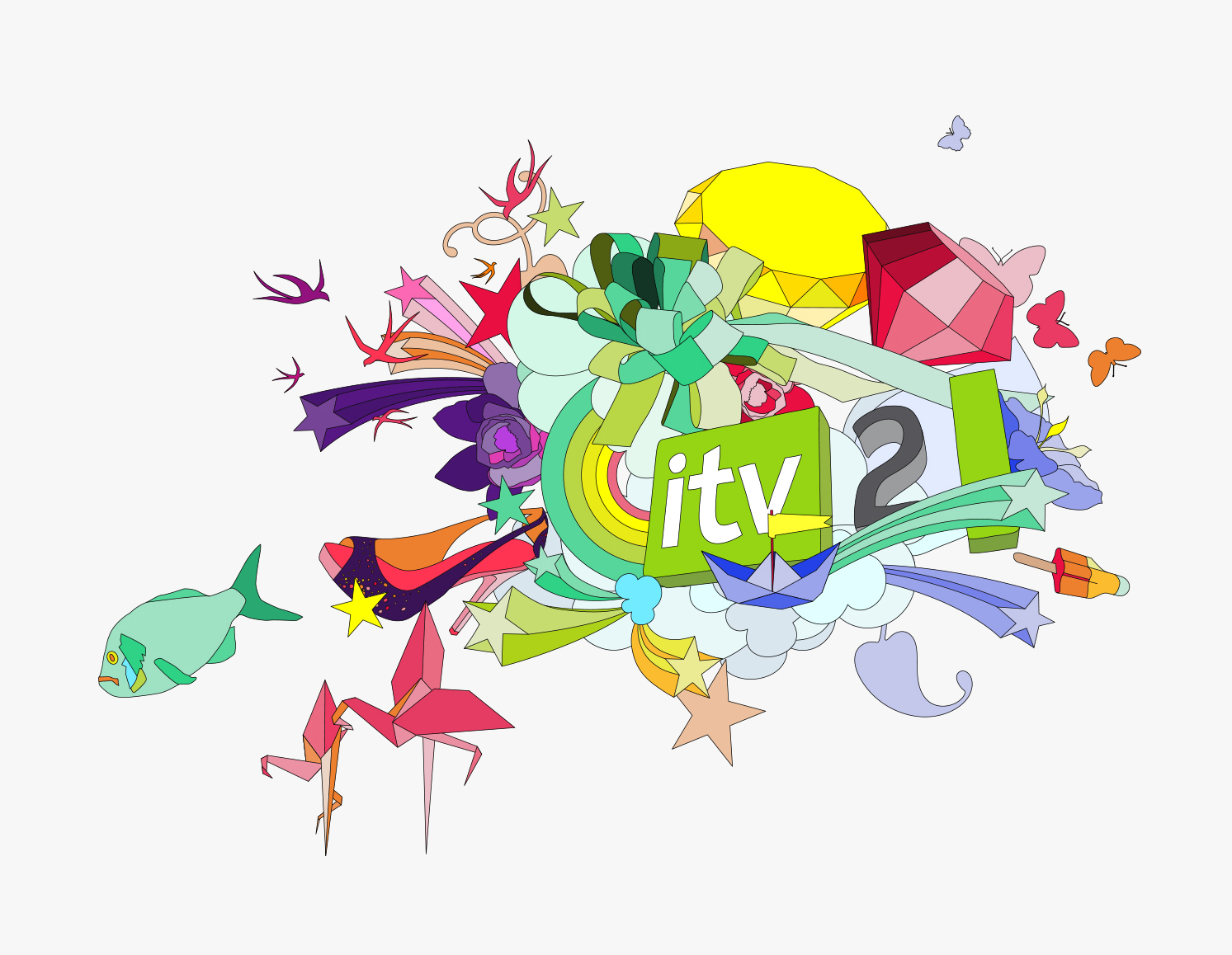 Vector illustration for ITV 2