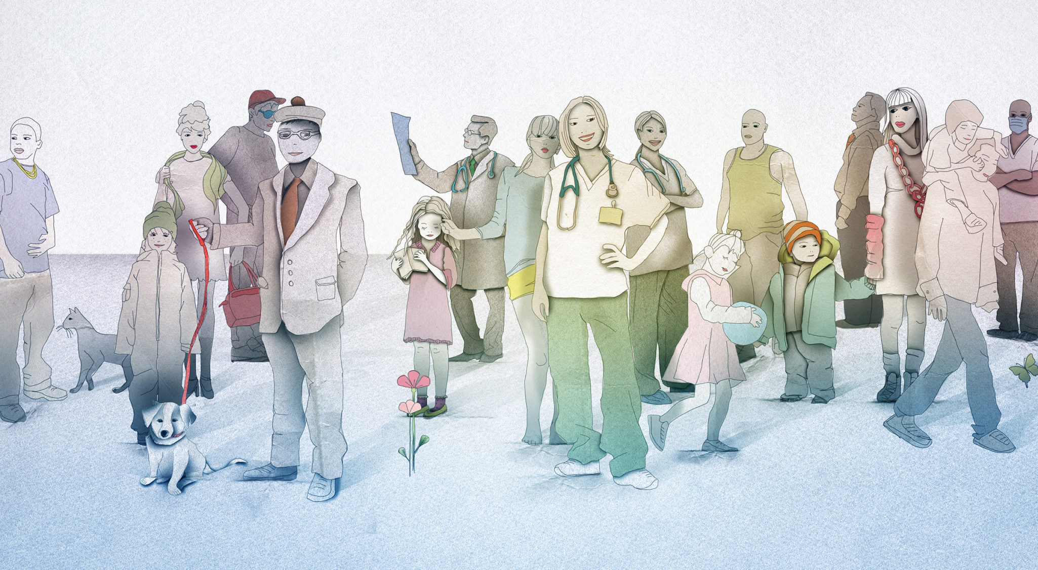 Styleframe for Ohio Healthcare: People illustrations