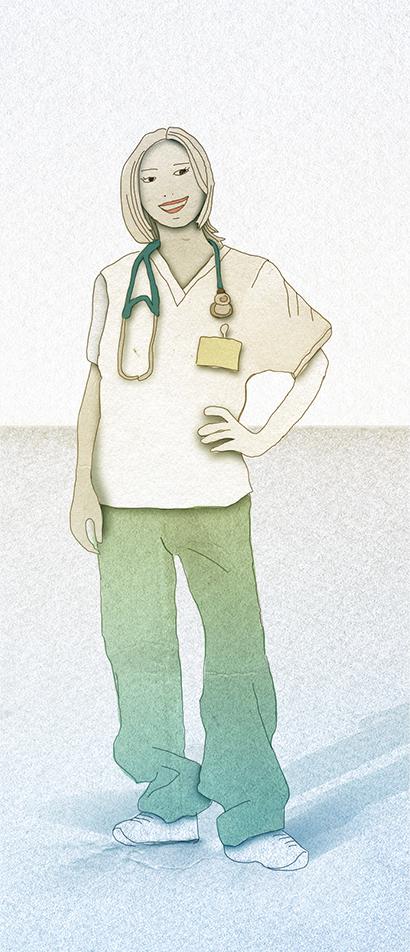 Illustration: Female Doctor