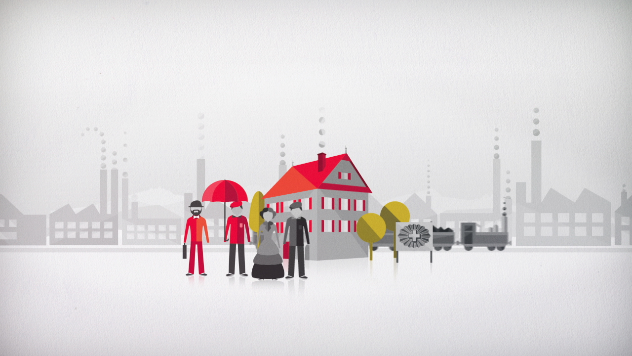 Still frame of explainer animation: Swiss Life - The Facts
