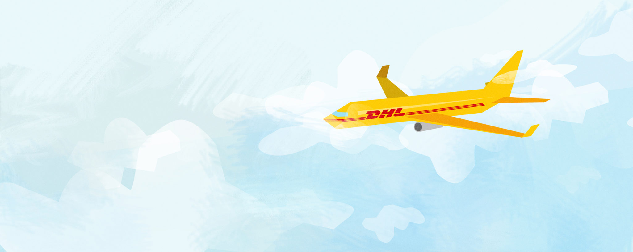 Styleframe illustration for DHL animation: Cargo plane