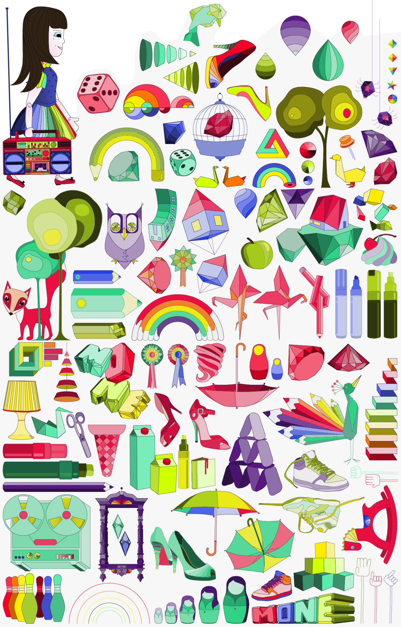 Illustrated things