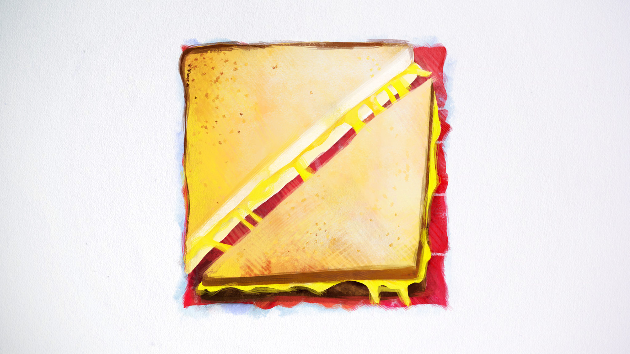 Styleframe hand painted: Cheese sandwich