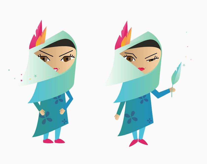 Character Design: Malaysian Girl
