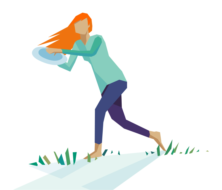 Illustration: Girl and frisbee