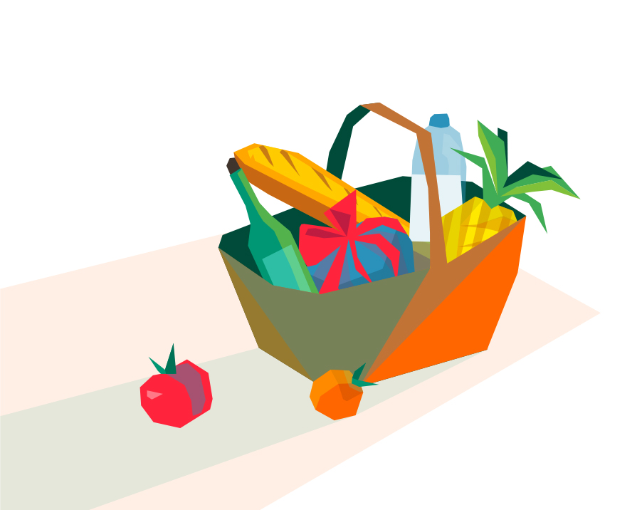 Illustration: Picknick basket