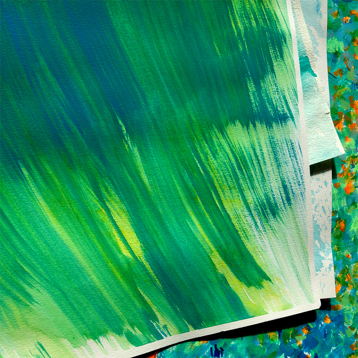 Texture Design: water colours
