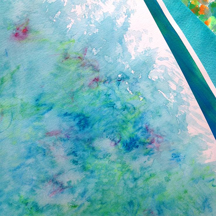 Texture Design: Acrylics, watercolour and felt tip pen