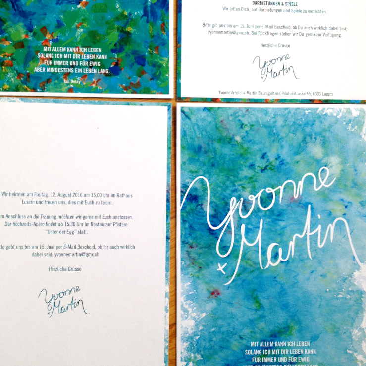 Wedding Invitatation: detail front and back
