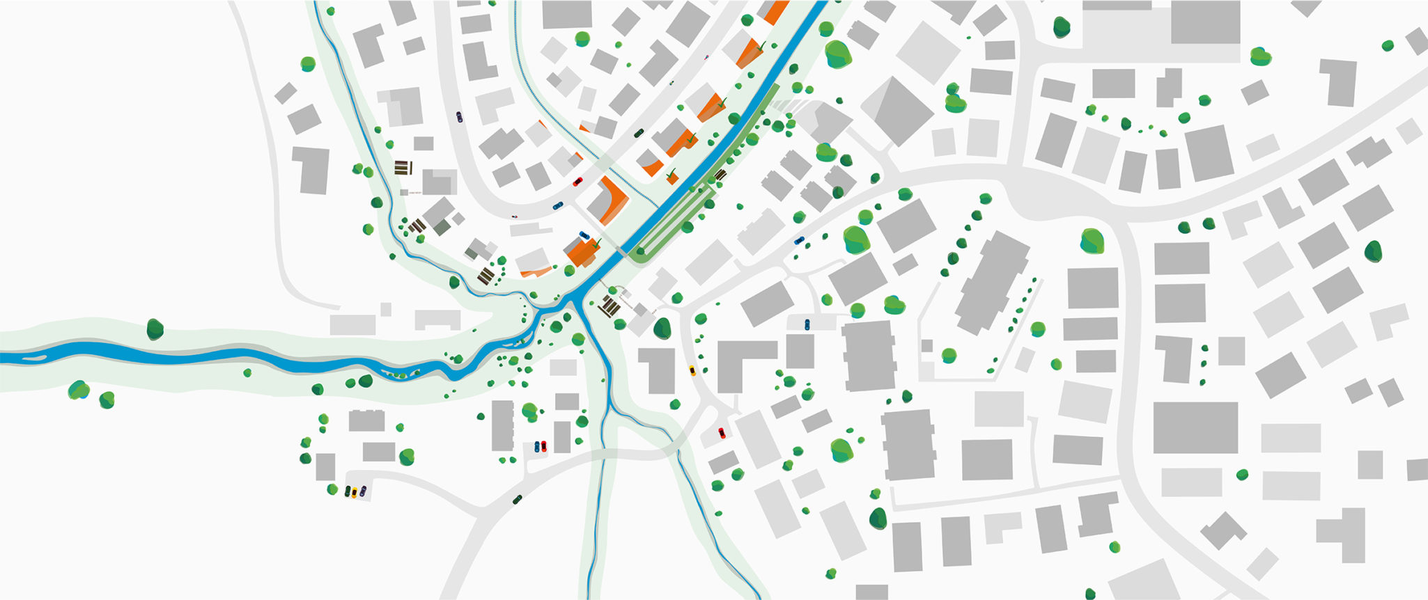 Stillframe: Village Map from top