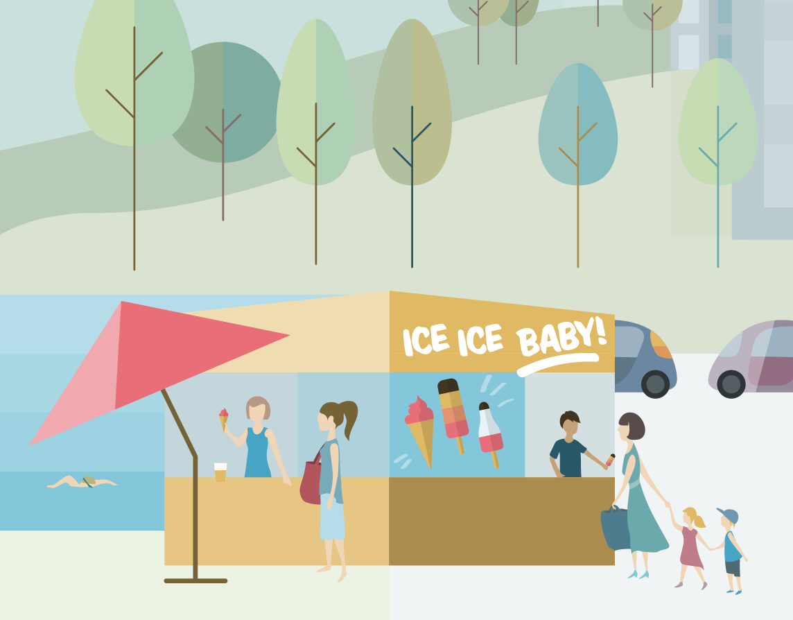 Vector Illustration detail: Ice cream parlor