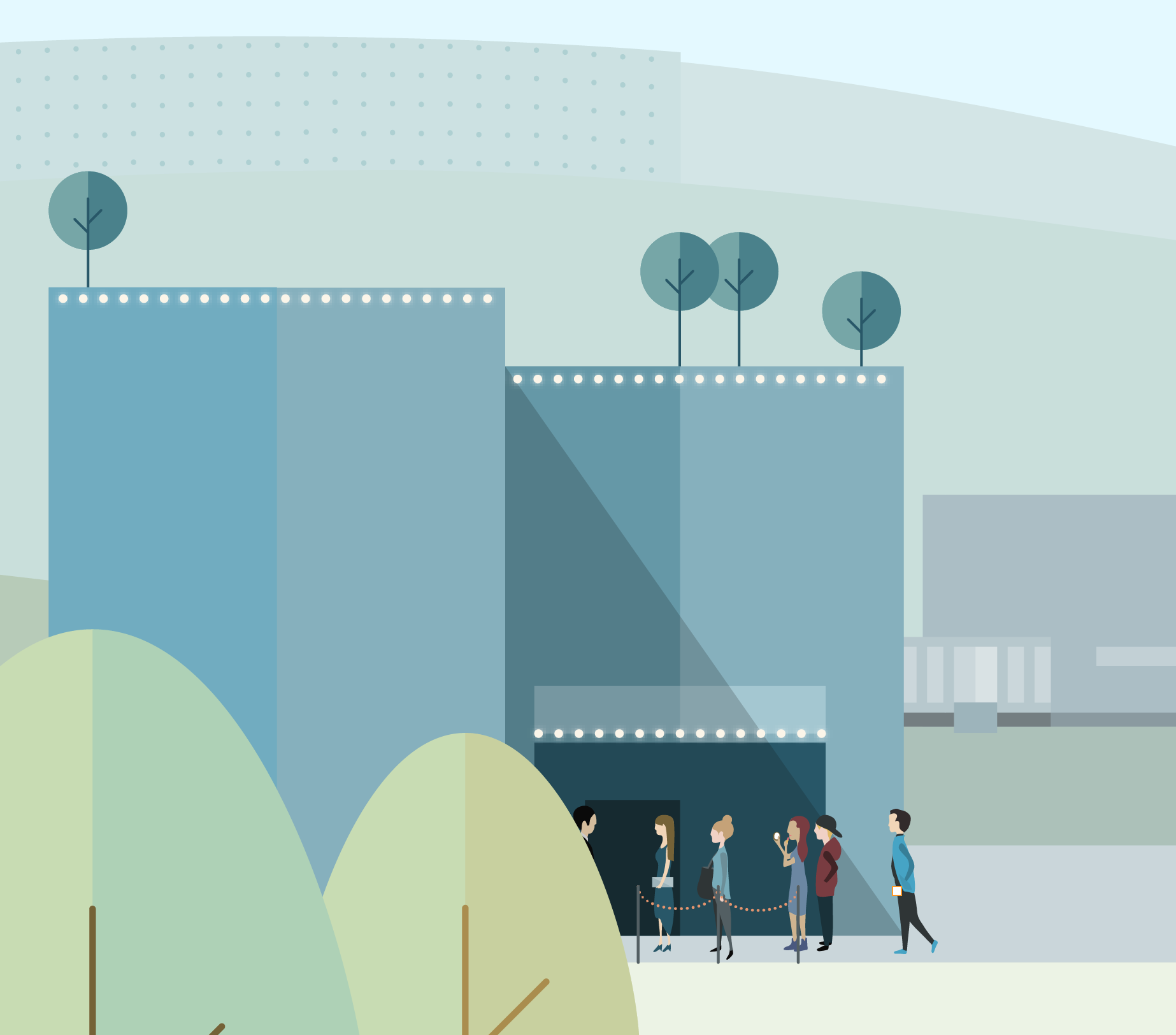 Vector Illustration detail: People in the queue