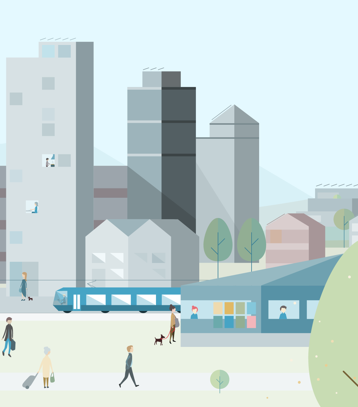 Vector Illustration: detail of Minergie City