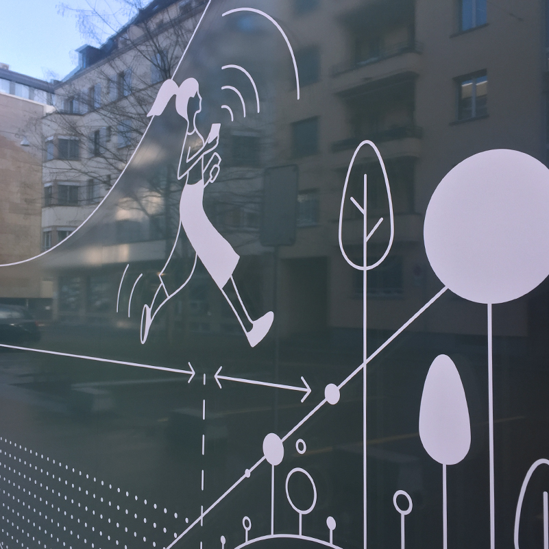 Vector Illustration: detail of the large scale window picture