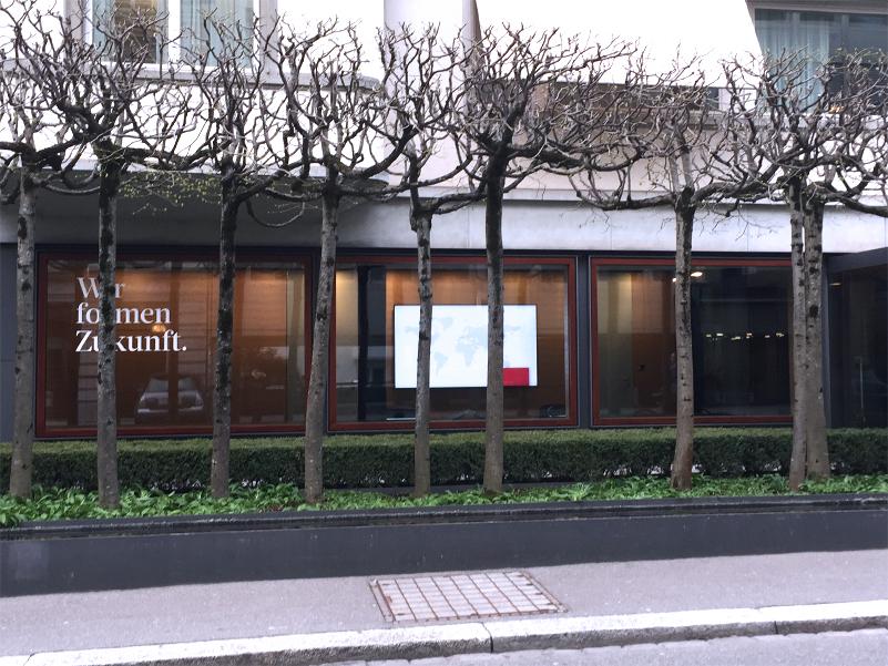 Entrance at EBP Schweiz