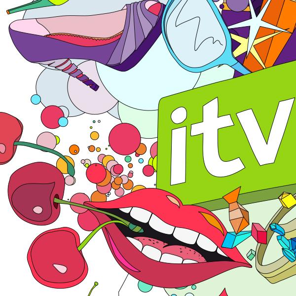 Glitter Litter:Vector illustration for ITV 2