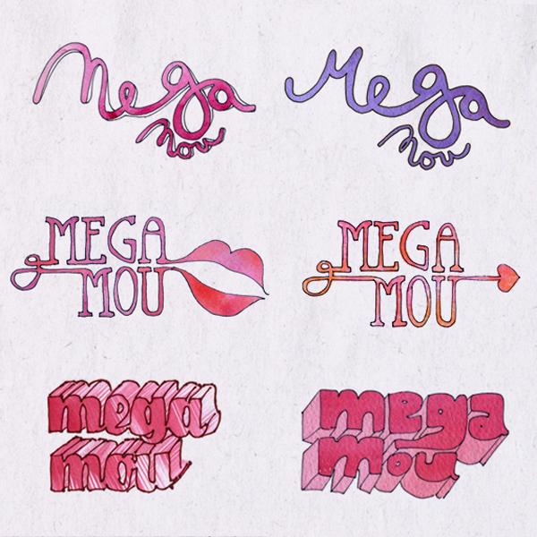 Typogrpahy for Greek TV Channel Mega