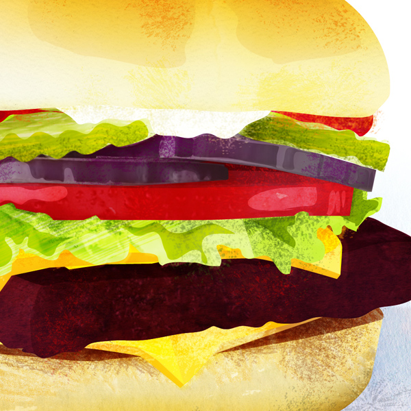 Illustration: Hamburger