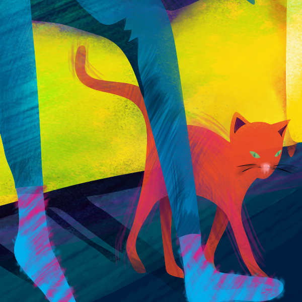 Styleframe detail for animated TV commercial: Cat